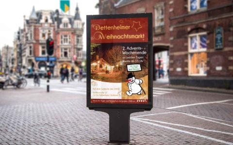 Plakatdesign Weihnachtsmarkt Dettenheim